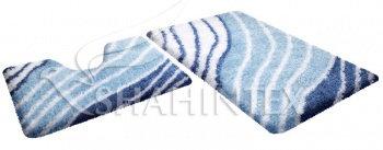Набор ковриков д/в SHAHINTEX SOFT multicolor 60*90+60*50 сапфир