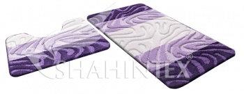 Набор ковриков д/в SHAHINTEX РР MIX 4К 50*80+50*50 фиолетовый (61)