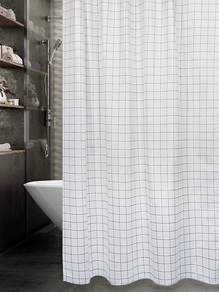 Штора для ванн BATH Simple Cube black 180х180 (ch-21280)