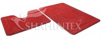 Набор ковриков д/в SHAHINTEX ЭКО 60*90+60*50 бордовый (45)