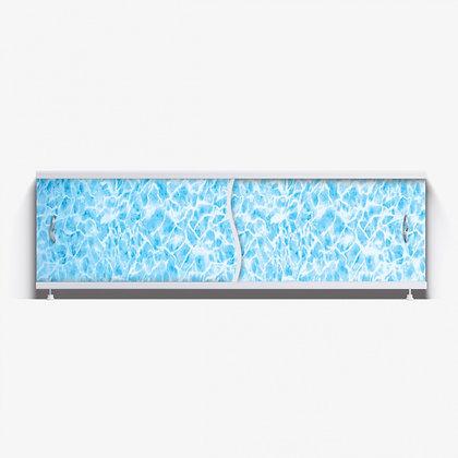 """Экран под ванну """"Премьер"""" с алюм. рамой 1,5 м (13 -синий мрамор)"""