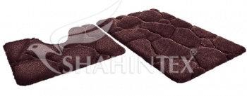 Набор ковриков SHAHINTEX РREMIUM SH P001 60*100+60*50 шоколадный (37)