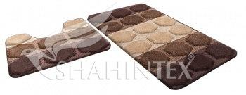 Набор ковриков д/в SHAHINTEX РР MIX 4К 50*80+50*50 шоколадный (37)