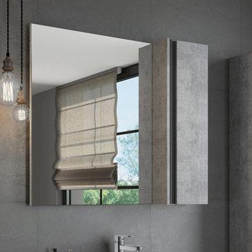 """Зеркало-шкаф """"Эдинбург-90"""" бетон светлый"""