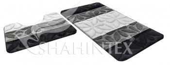 Набор ковриков д/в SHAHINTEX РР MIX 4К 50*80+50*50 черный (18)