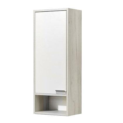 Шкафчик подвесной одностворчатый Флай белый/дуб крафт (лев/прав)