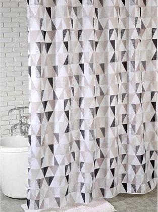 Штора для ванн BATH Triangular Scrawl khaki tone 180х200 (ch21260/5)