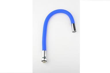 Излив гибкий силиконовый синий на гайке AКs 72-14 AquaKratos