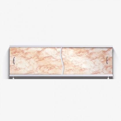 "Экран под ванну ""Премьер"" с алюм. рамой 1,7 м (10- светло-корич. мрамор)"
