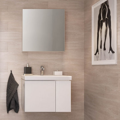 Зеркало-шкафчик COLOUR без подсветки, белый