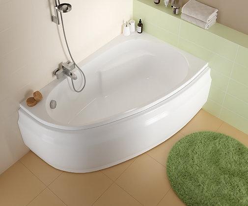 Ванна асимметричная JOANNA 150x95, левая, ультра белый