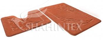 Набор ковриков д/в SHAHINTEX ЭКО 60*90+60*50 кирпичный (51)