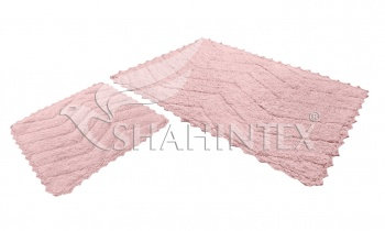 Набор ковриков SHAHINTEX HEAVEN SH H002 60*100+60*50 розовый (64)