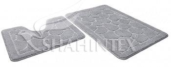 Набор ковриков д/в SHAHINTEX ЭКО 60*90+60*50 серый (50)