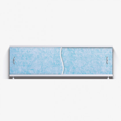 """Экран под ванну """"Премьер"""" с алюм. рамой 1,5 м (39- голубой мороз)"""