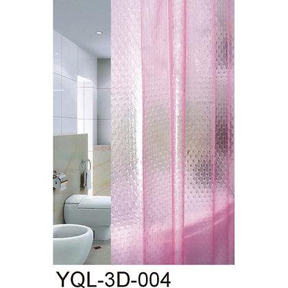 """Штора д/ван """"ZALEL 3D (004) Pink 180х180"""