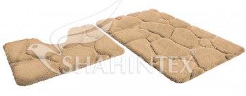 Набор ковриков SHAHINTEX РREMIUM SH P001 60*100+60*50 бисквитный (7)