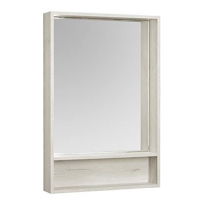 "Зеркало-шкаф ""Флай 60"" Дуб Крафт, белый"