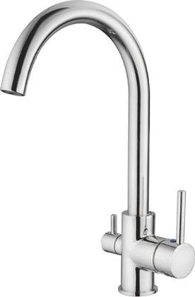Смеситель для кухни со встроенным фильтром под питьевую воду Ledeme L4255-3