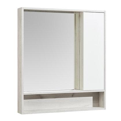 "Зеркало-шкаф ""Флай 80"" Белый/Дуб КРАФТ бел"
