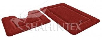 Набор ковриков д/в SHAHINTEX SOFT 60*90+60*50 гранат