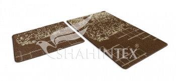 Набор ковриков SHAHINTEX VINTAGE SH V001 60*100+60*50 шоколадный (37)