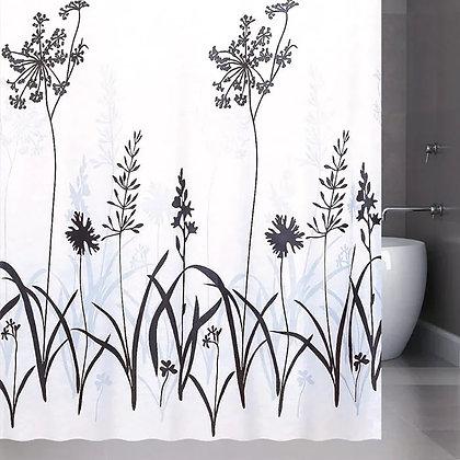 Штора для ванн BATH (Vitality) белый/черный 180х180 (21214/8-Р) (42)
