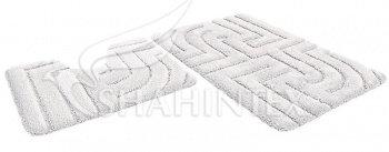 Набор ковриков SHAHINTEX РREMIUM SH P002 60*100+60*50 белый (59)