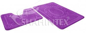 Набор ковриков д/в SHAHINTEX ЭКО 60*90+60*50 фиолетовый (61)