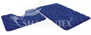 Набор ковриков SHAHINTEX РREMIUM SH P004 60*100+60*50 синий (56)