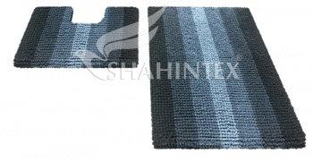 Набор ковриков д/в SHAHINTEX MULTIMAKARON 60*90+60*50 черный