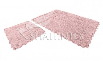 Набор ковриков SHAHINTEX HEAVEN SH H001 60*100+60*50 розовый (64)