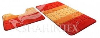 Набор ковриков д/в SHAHINTEX РР MIX 4К 60*100+60*50 оранжевый (63)
