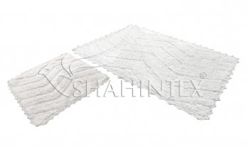 Набор ковриков SHAHINTEX HEAVEN SH H002 60*100+60*50 белый (59)