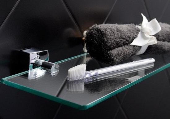 Полка стеклянная Fixsen Kvadro FX-61303, 50 см