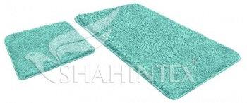 Набор ковриков SHAHINTEX LAMA 60*90+60*50 голубой (11)