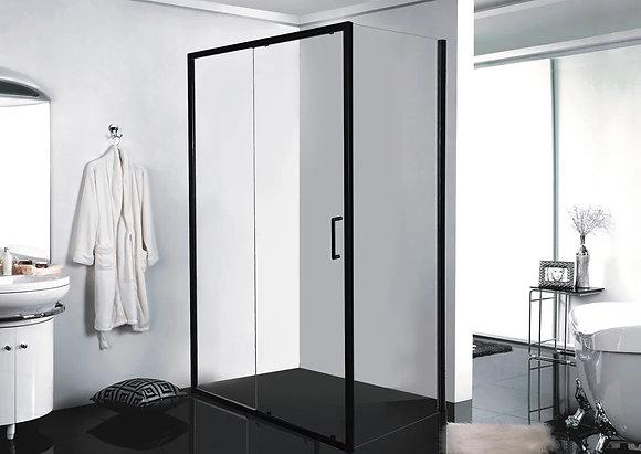 Душевое ограждение одна раздвижная дверь (без поддона) BLACKLINE