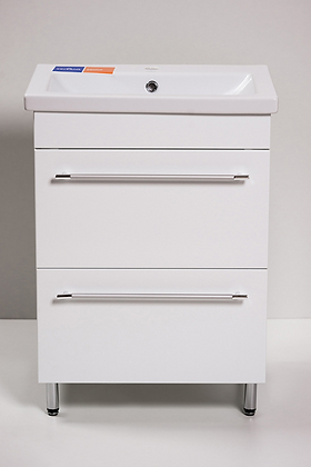 Тумба с раковиной КОМО-700 с 2-мя ящиками белая