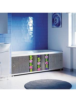 "Экран под ванну ""Оптима DECOR"" 1,7 м пластик (037Н Орхидея)"