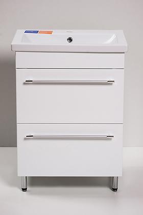 Тумба с раковиной КОМО-500 2 ящика белая
