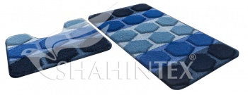 Набор ковриков д/в SHAHINTEX РР MIX 4К 50*80+50*50 темно-синий (14)