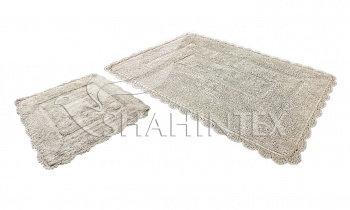 Набор ковриков SHAHINTEX HEAVEN SH H001 60*100+60*50 бисквиный (7)