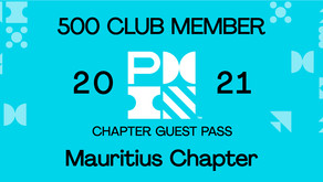 PMI Chapter of Mauritius Guest Pass - PMI 500 Club Member