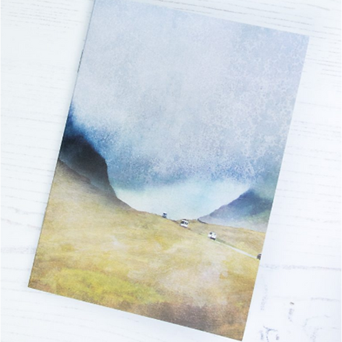 """Cath Waters """"The Road North"""" Glencoe A6 notepad"""