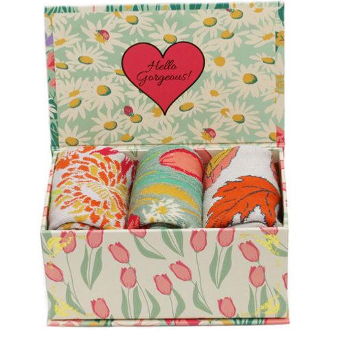 Powder Ladies Sock Gift Box - Cottage Garden
