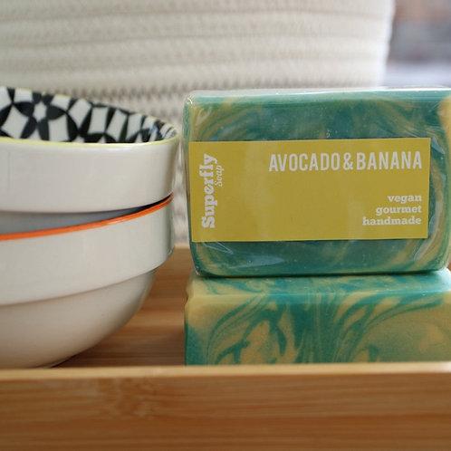 Avacado and Banana Handmade Soap