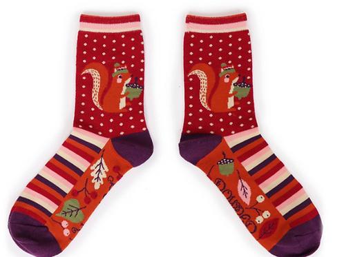Nutty Squirrel Ankle Socks by Powder