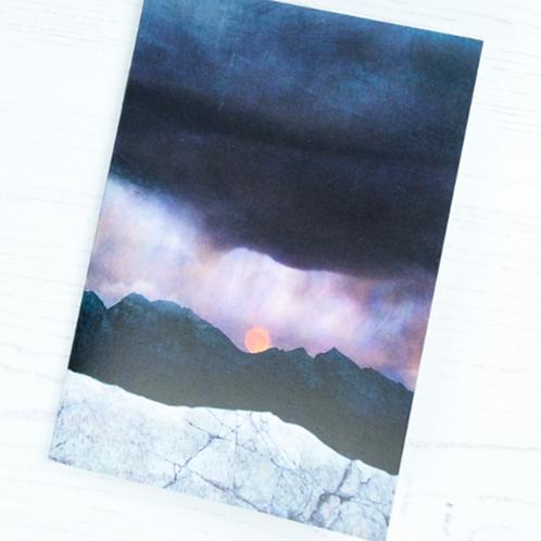 Cath Waters Strawberry Moonrise Skye Notepad