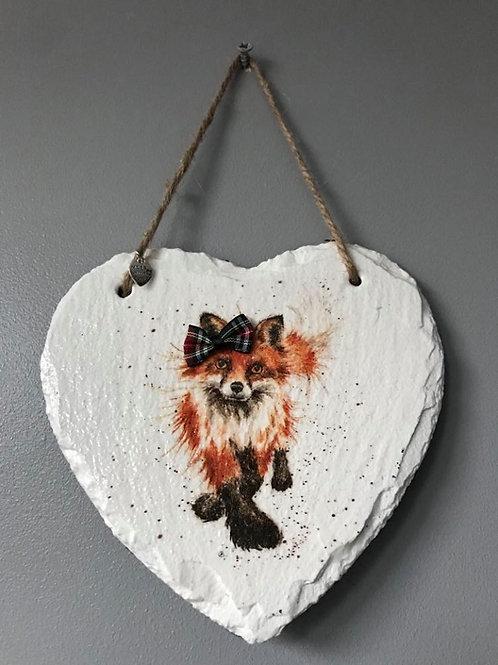 Fox Slate Heart