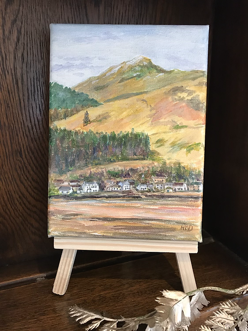 Lochgoilhead  Original Acrylic Miniature